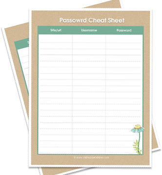 image regarding Password Cheat Sheet Printable named Setting up Your Pwords + Totally free Printable - Existence Comes about By now
